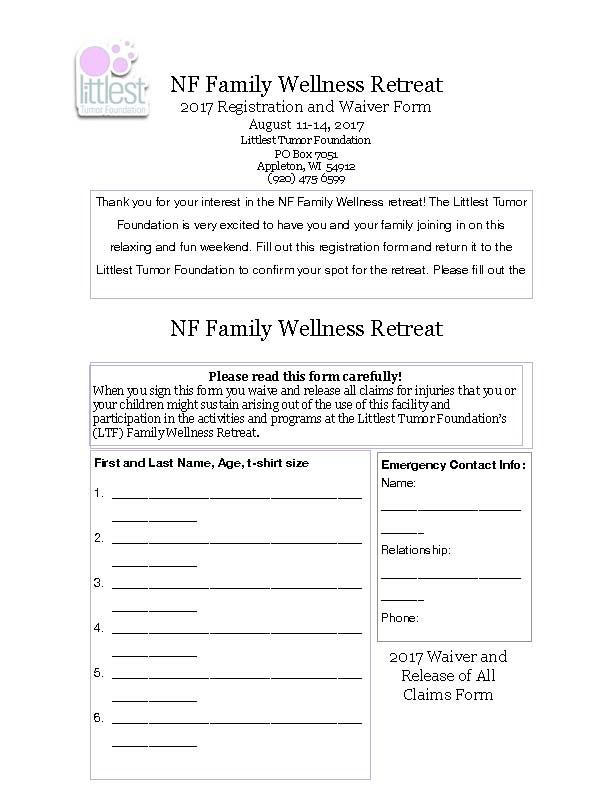 Littlest Tumor Foundation NF Family Wellness Retreat | Children's ...