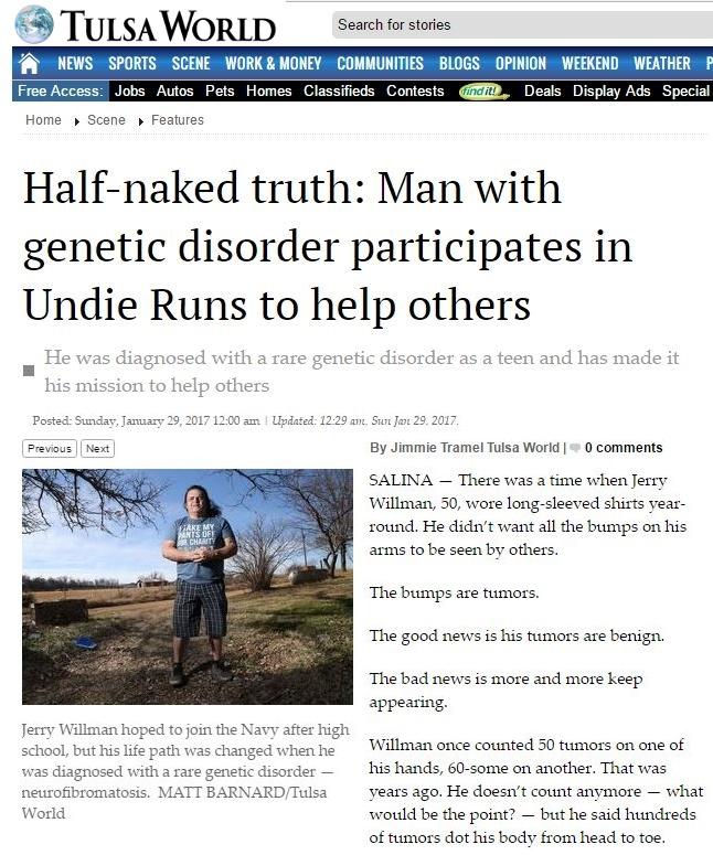 NF Hero in the News: Tulsa World profiles Jerry Willman